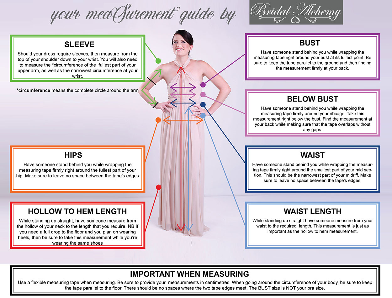 BRidal Alchemy Measurement Instruction