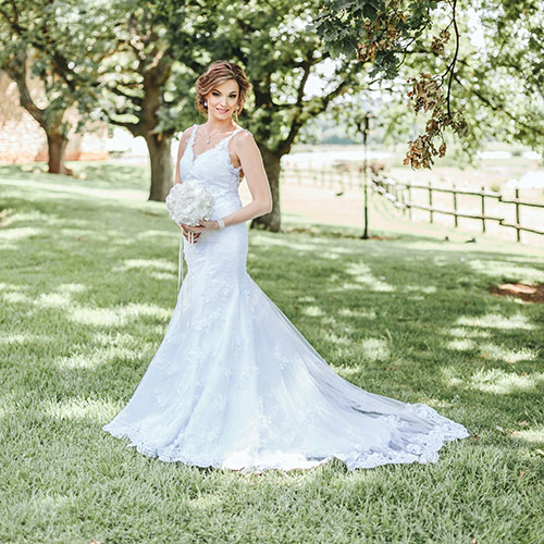 Real Brides wearing Bridal Alchemy Dresses